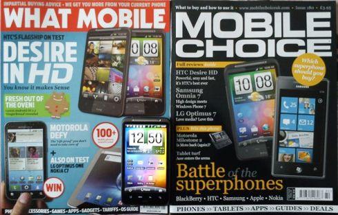 英国モバイル雑誌とHTC Desire HD